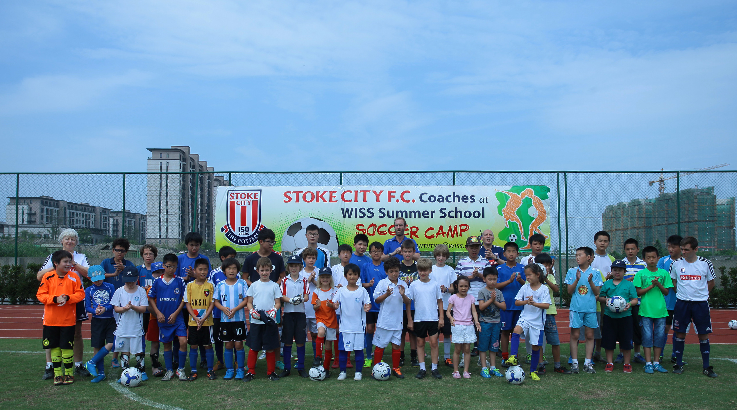 Stoke City FC at the WISS Summer Camp