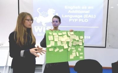 Teachers present EAL techniques
