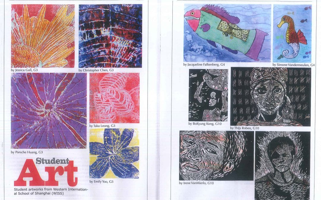 Students' artwork features in Little Star Magazine