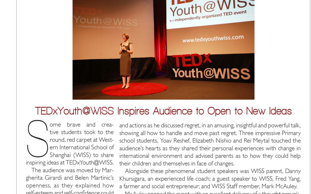 TEDxYouth@WISS Inspires Audience to Open to New Ideas