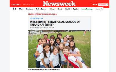 We're pleased to be featured in Newsweek's Leading International Schools 2018.