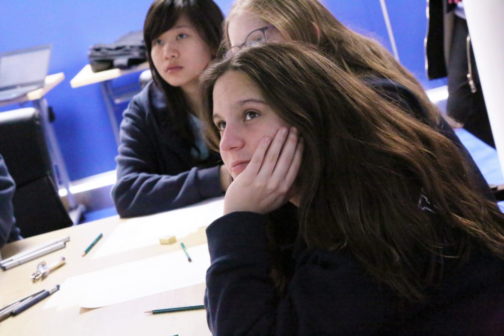 Students learning more about the IBCP Art & Design pathway at the Western International School of Shanghai