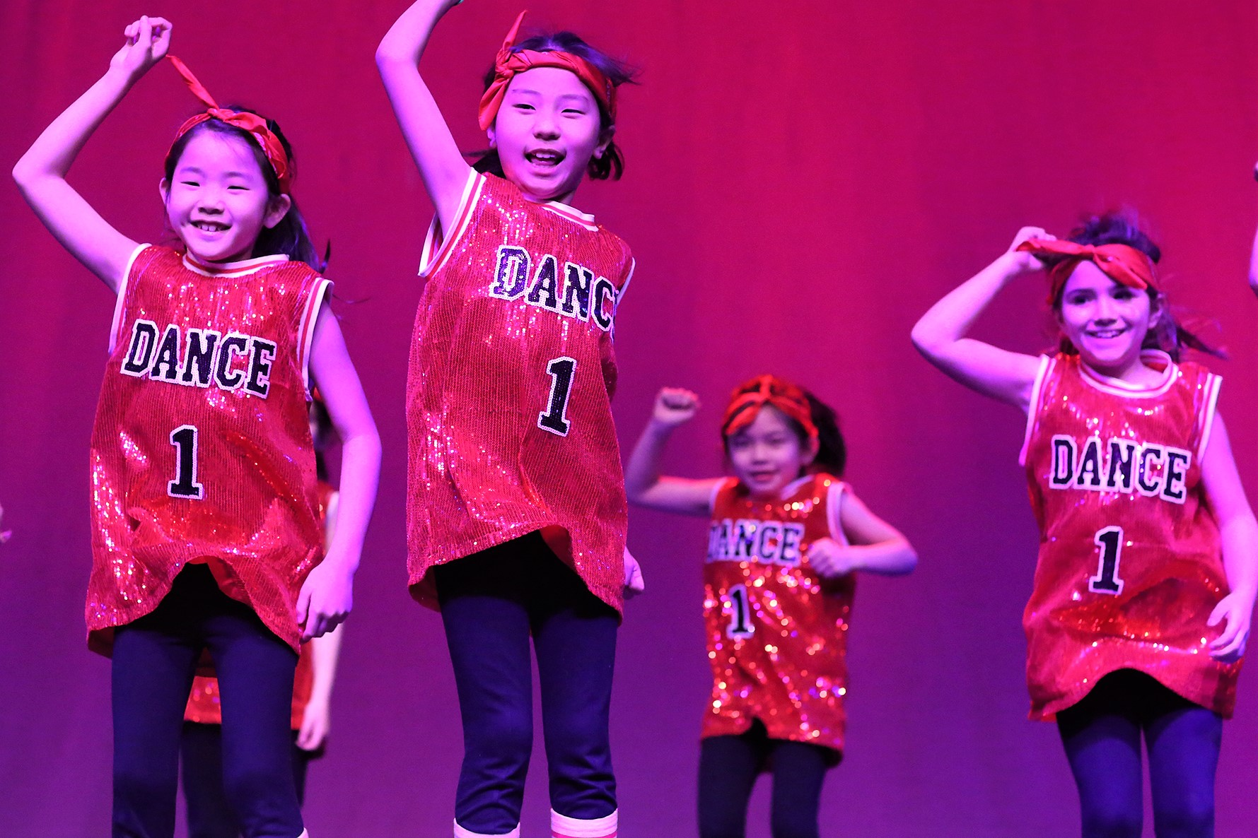 WISS Mini's Dancers during the Dance Festival at The Western International School of Shanghai (WISS)