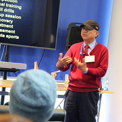 Learning About Sports Injuries Prevention with Professor Raymond Lee at WISS