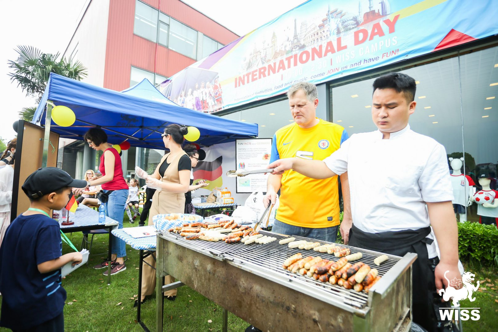 Traditional food from more than 50 different countries at The Western International School of Shanghai (WISS)